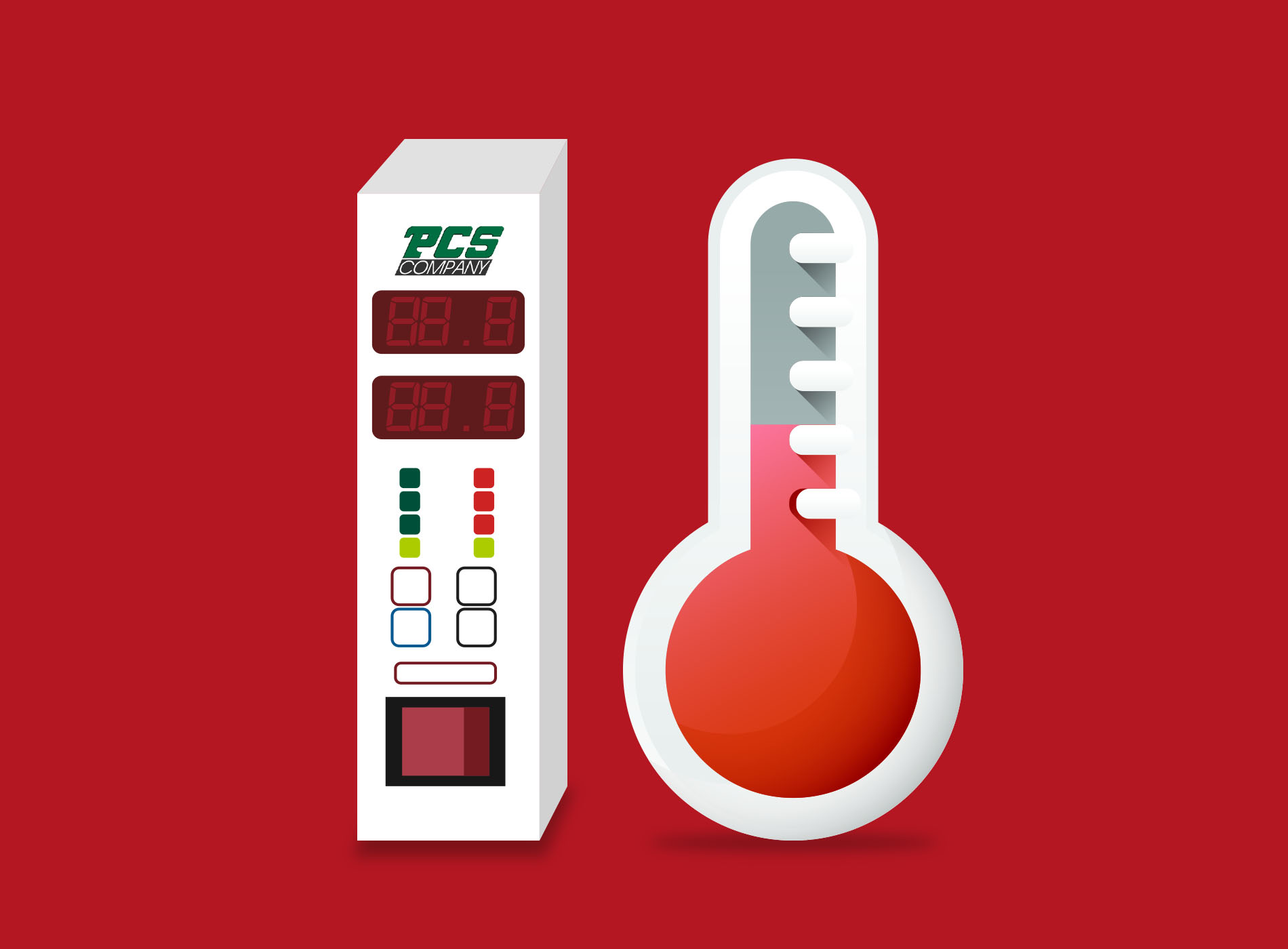 gráfico de control de temperatura de PCS