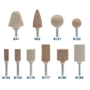 Puntas y Cilindros de Fibra de Algodón Abrasivo para Pulido GMX