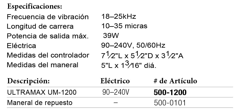 ULTRAMAX 1200 (ficha)
