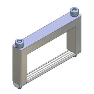 Elementos de unión en Cruz para Perfil - alto 80x40